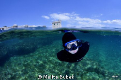 My son Robi swimming nearby island Brijuni...NikonD90, To... by Melita Bubek 